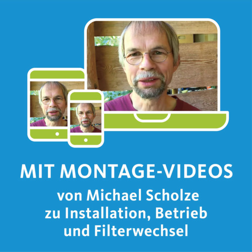 Montage, Wartung und Filterwechselvideo